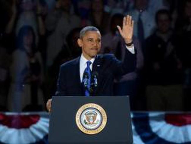 Ông Obama đọc diễn văn trúng cử Tổng thống Mỹ nhiệm kỳ thứ 45