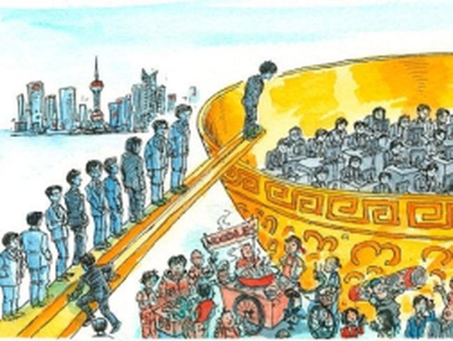"""""""Cuộc chiến"""" giành """"bát cơm vàng"""" của thanh niên Trung Quốc"""