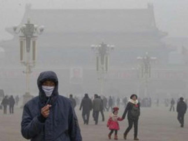 Khói bụi ô nhiễm từ Trung Quốc lan sang Nhật