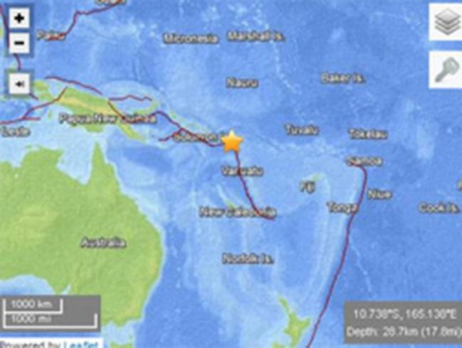 Động đất 8 độ Richter gây sóng thần ở Thái Bình Dương