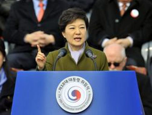 Hình ảnh lễ nhậm chức của  Nữ Tổng thống Hàn Quốc đầu tiên