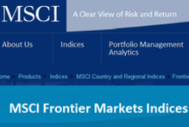 MSCI Frontier Markets Index thêm cổ phiếu ngân hàng vào danh mục