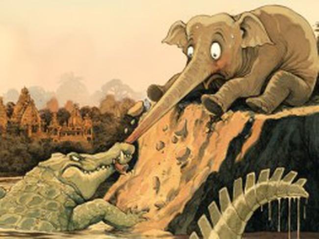 """""""Chú voi"""" của châu Á sa lầy"""
