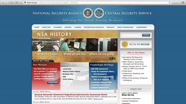 Trang web của Cơ quan An ninh quốc gia Mỹ tê liệt