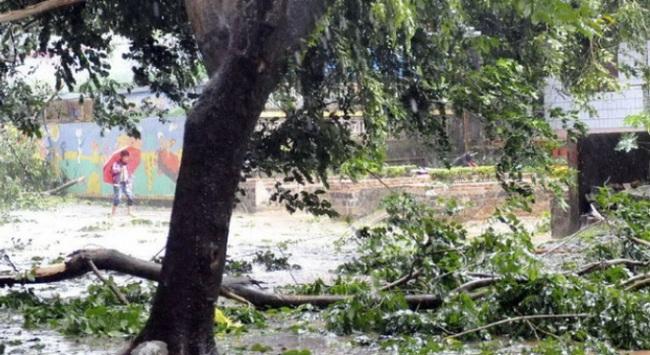 Bão Haiyan đổ mưa dữ dội xuống Hải Nam: 6 người mất tích