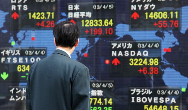 Chứng khoán châu Á thăng hoa, Nikkei vượt 15.000 điểm