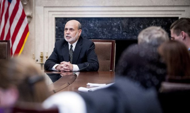 Ben Bernanke: Lãi suất vẫn thấp dù QE kết thúc