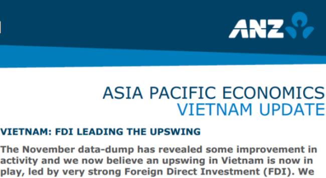 ANZ: FDI giúp kinh tế Việt Nam cất cánh