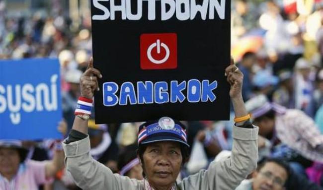 """Chùm ảnh biểu tình """"đóng cửa"""" Bangkok"""