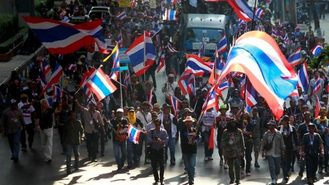 Người biểu tình Thái Lan chỉ còn 7.000 người