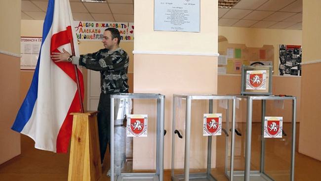 Khoảng 93% cử tri Crimea chọn Nga