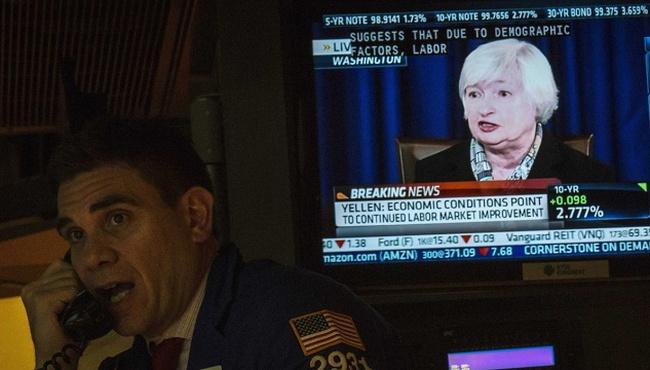 Chứng khoán Mỹ giảm mạnh sau phát biểu của Yellen