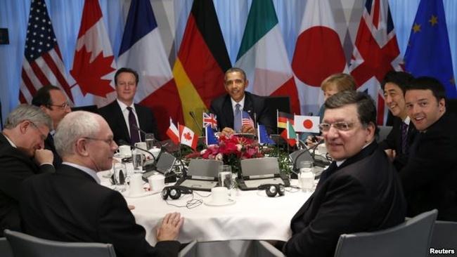"""Lãnh đạo G-7 tuyên bố tạm """"nghỉ chơi"""" với Nga"""