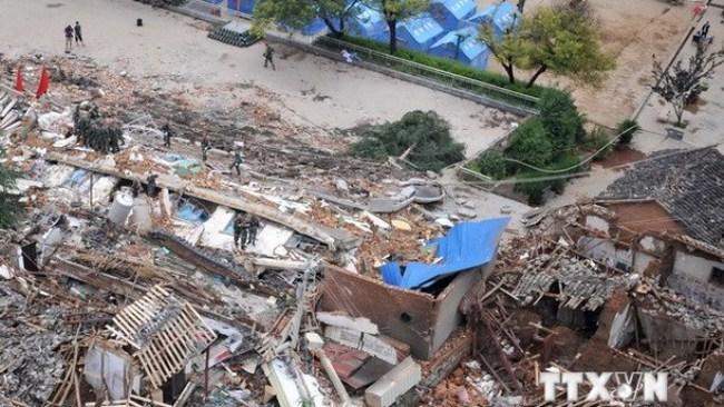 Số người thiệt mạng trong vụ động đất ở Vân Nam lên gần 600