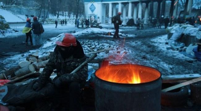 Ở Ukraine, mùa đông đang đến...