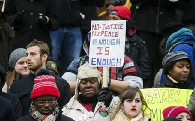 Biểu tình nổ ra khắp nước Mỹ vì vụ Ferguson