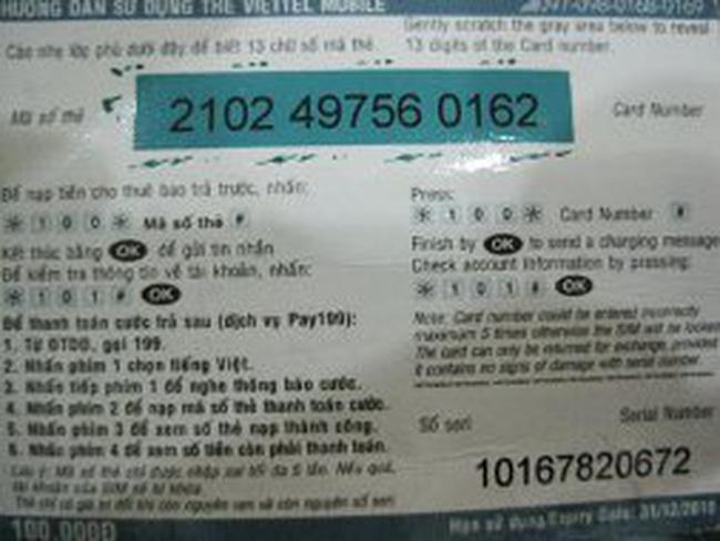 Khuyến mại thẻ cào bị dừng đến hết năm 2012