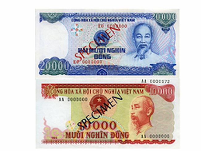 Từ 1/1/2013: Đình chỉ lưu hành tiền cotton loại 10.000 đồng và 20.000 đồng