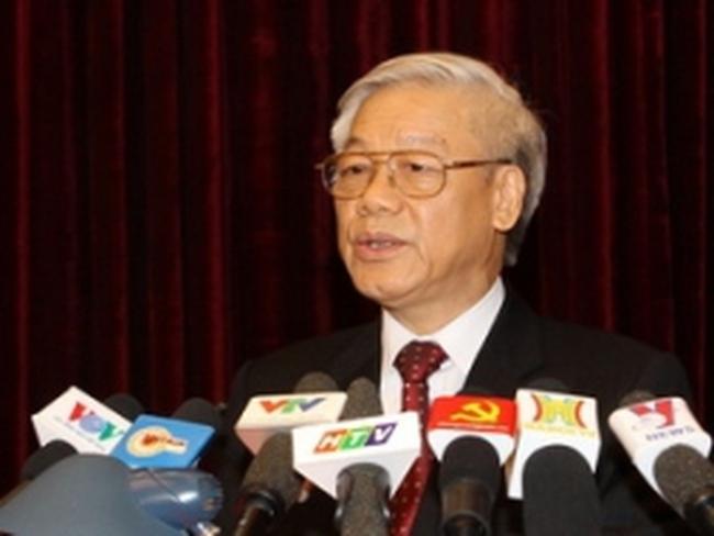 Tổng Bí thư phát biểu bế mạc Hội nghị BCH TW Đảng
