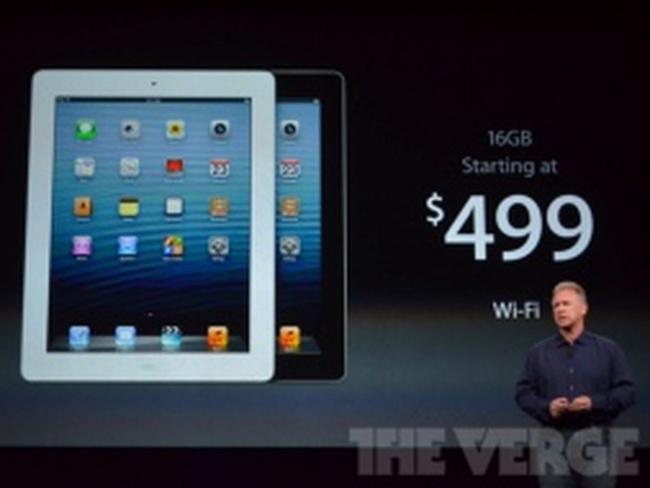 """Giới công nghệ """"choáng váng"""" vì sự xuất hiện của iPad 4"""
