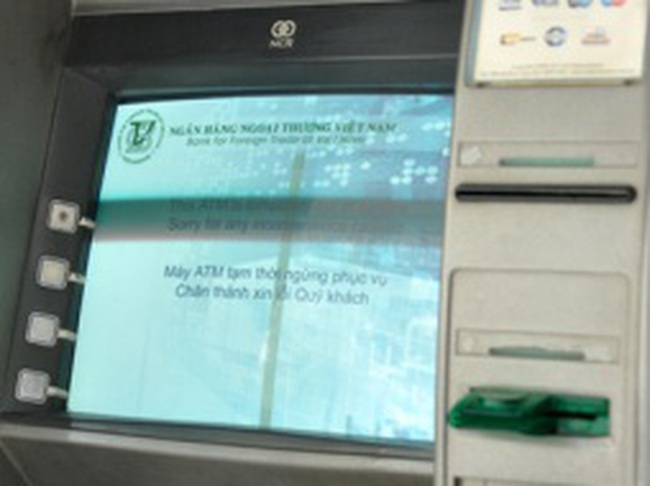 ATM Hải Phòng gặp sự cố