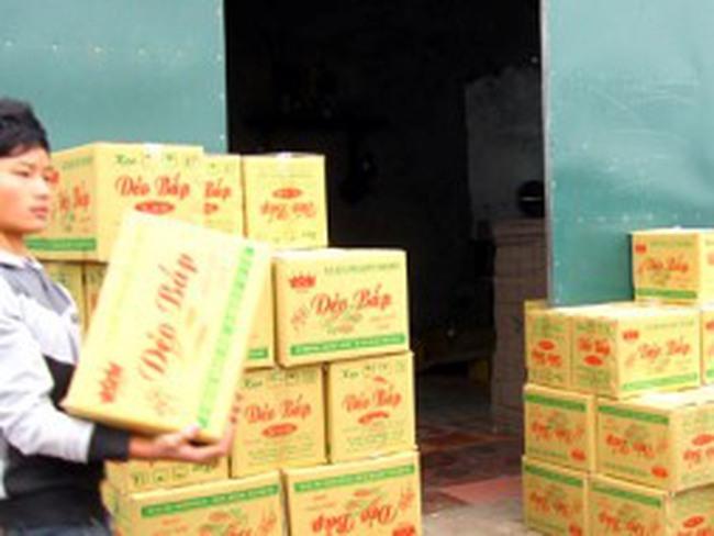 900kg kẹo ngô dẻo sản xuất bằng nguyên liệu trôi nổi