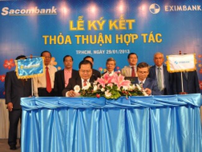 Sacombank và Eximbank chính thức hợp tác toàn diện ngay từ năm nay