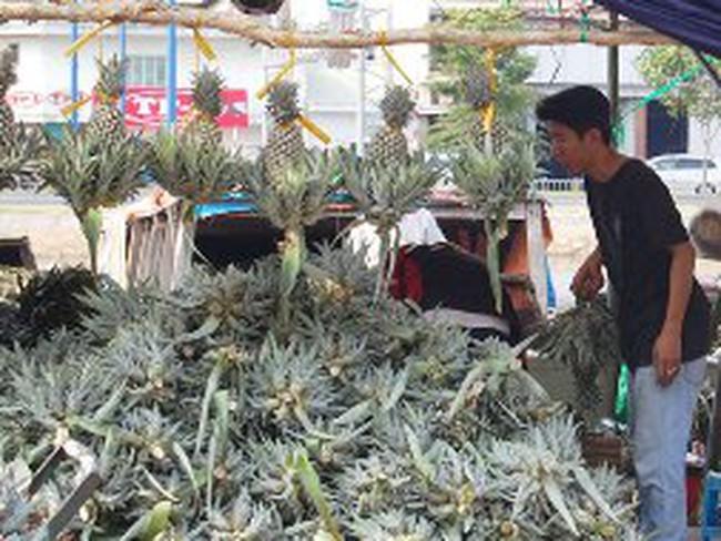 Tấp nập chợ nổi trái cây giữa Sài Gòn