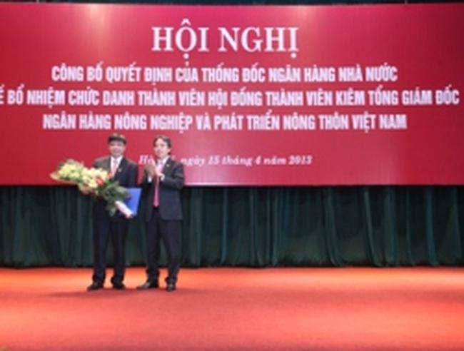 Bổ nhiệm ông Trịnh Ngọc Khánh giữ chức Tổng giám đốc  Agribank