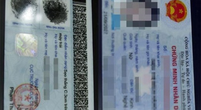 Bỏ ghi tên cha, mẹ trên chứng minh nhân dân từ ngày 01/11