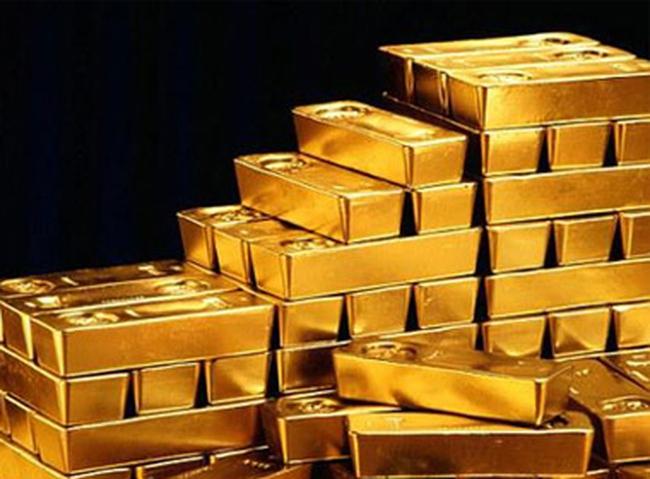 Giá vàng giảm mạnh xuống thấp nhất 3 tuần