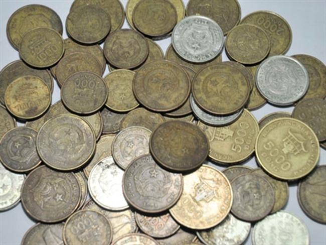 Tiền xu vắng bóng một phần do NHNN thu hồi, cất giữ