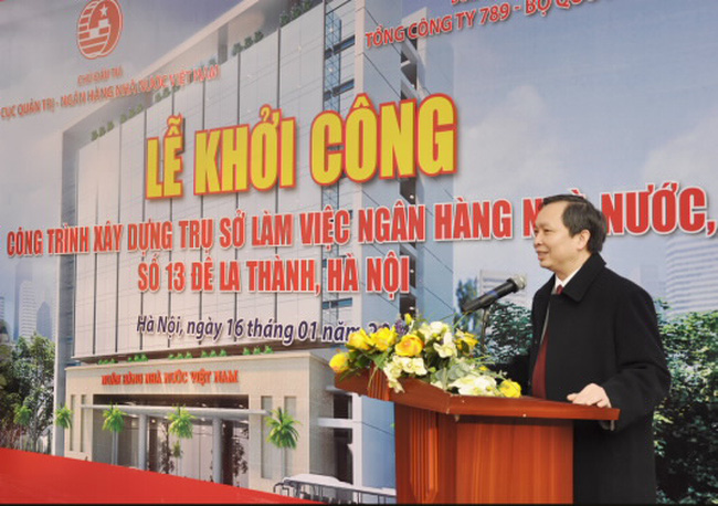Khởi công Công trình xây dựng Trụ sở làm việc NHNN số 13 Đê La Thành, Hà Nội
