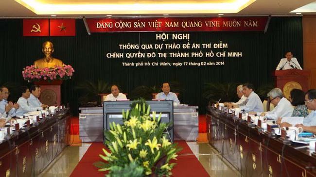 Ngày 13-3 báo cáo Bộ Chính trị đề án chính quyền đô thị TP.HCM