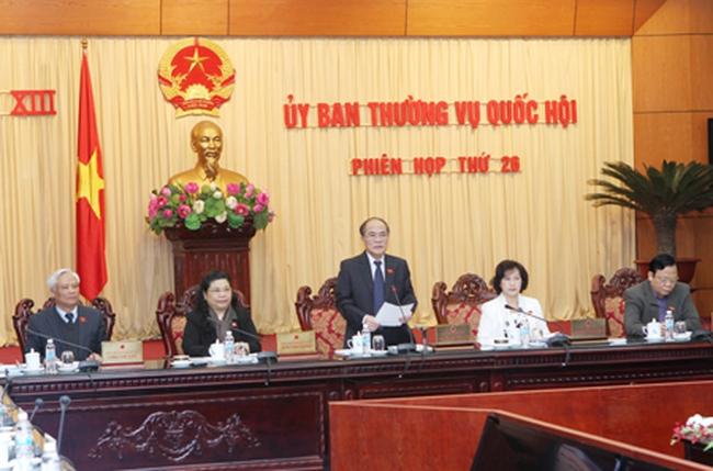 Khai mạc Phiên họp thứ 26 Ủy ban Thường vụ Quốc hội khóa XIII