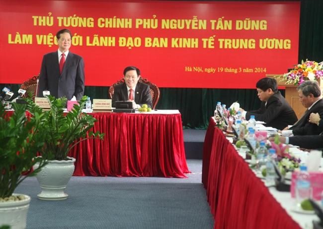Thủ tướng Nguyễn Tấn Dũng đánh giá cao nỗ lực của Ban Kinh tế Trung ương