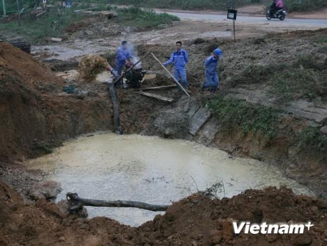 Hà Nội: Tuyến đường ống nước Sông Đà tiếp tục bị vỡ lần thứ 7