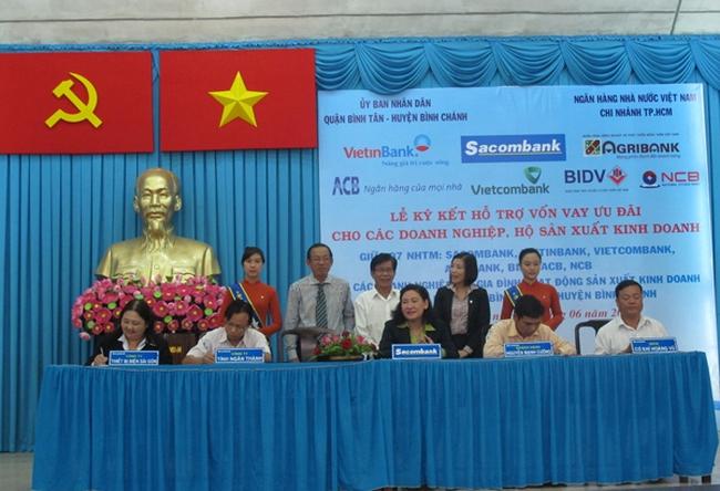 TPHCM: 7 ngân hàng cho vay ưu đãi trên 1.000 tỷ đồng ở Q. Bình Tân