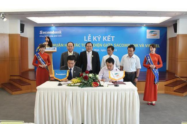 Sacombank hợp tác toàn diện với Viettel
