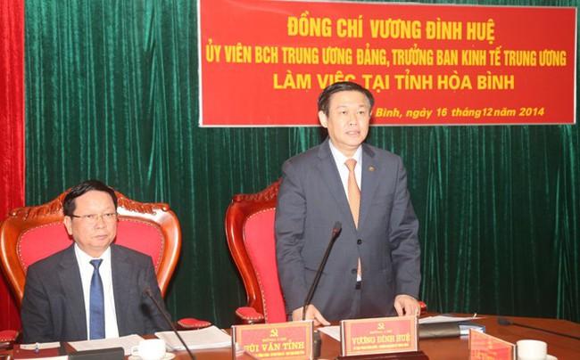 Ban Kinh tế Trung ương làm việc với Thường trực tỉnh ủy Yên Bái và Hòa Bình