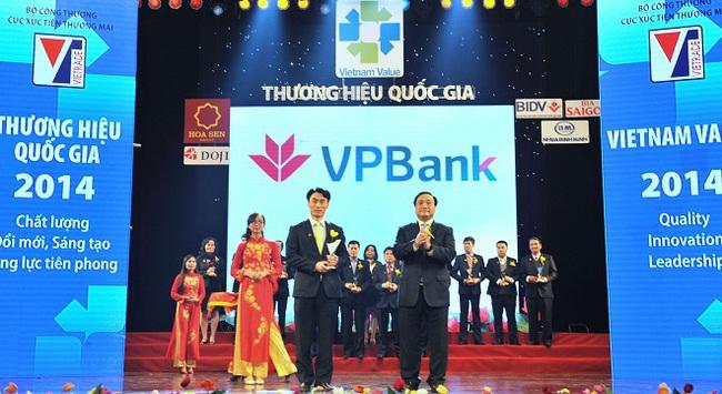 VPBank lần thứ 2 liên tiếp đạt giải Thương hiệu Quốc Gia