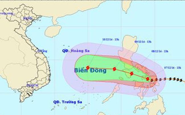 Bão Hagupit giật cấp 14-15 khi tiến vào biển Đông