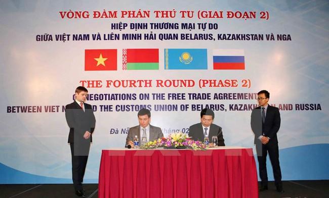 Kết thúc đàm phán thương mại tự do Việt Nam-Liên minh hải quan