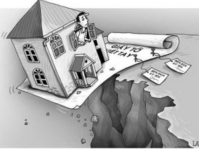 """""""Trắng tay"""" trước tòa vì mua đất không công chứng"""