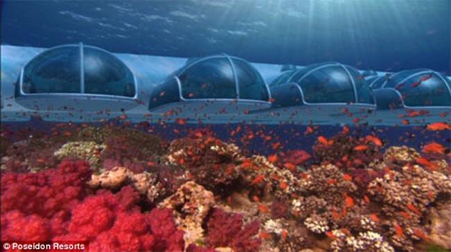 Ngắm khách sạn siêu sang dưới đáy biển