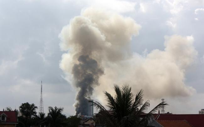 Cháy lớn ở tòa nhà cao nhất Hà Tĩnh