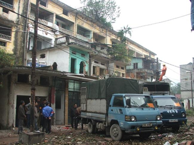 Hoàn tất GPMB nhà A1, A2 tập thể Nguyễn Công Trứ