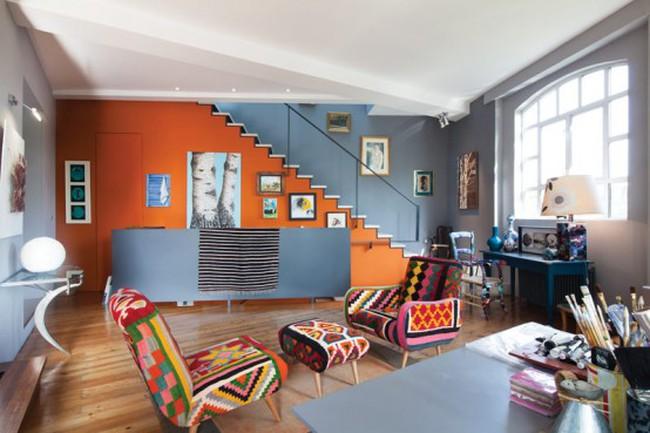 Ngắm căn Penthouse rực rỡ sắc màu tại Anh
