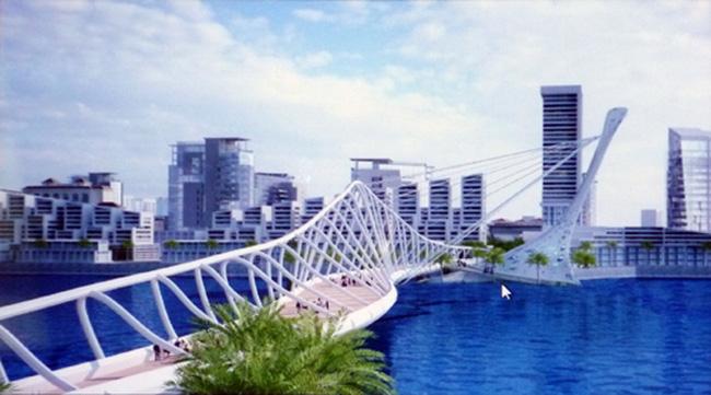 30 triệu USD xây cầu đi bộ qua sông Hàn