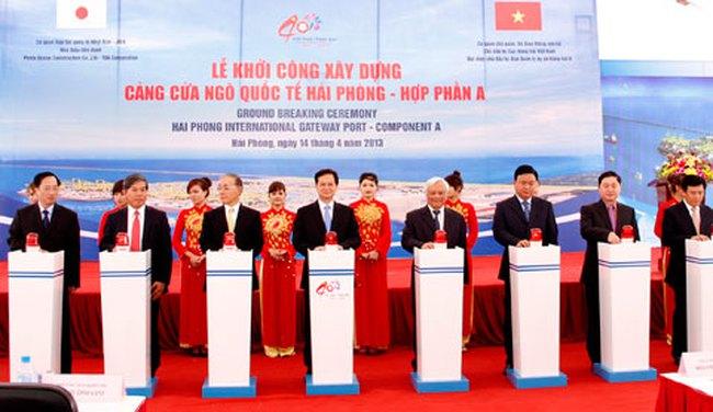 Thủ tướng phát lệnh khởi công xây dựng cảng cửa ngõ quốc tế Hải Phòng